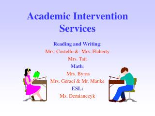 Academic Intervention Services