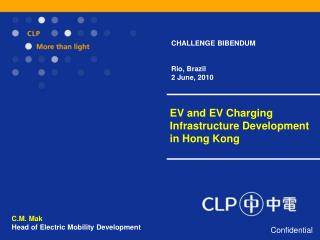 EV and EV Charging Infrastructure Development in Hong Kong