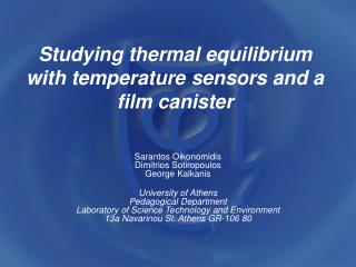 Studying thermal equilibrium with temperature sensors and a film canister