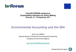 Environmental Accounting and the EEA