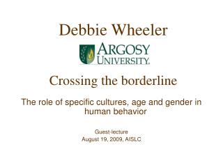 Debbie Wheeler Crossing the borderline
