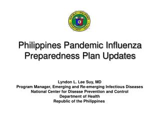 Philippines Pandemic Influenza Preparedness Plan Updates
