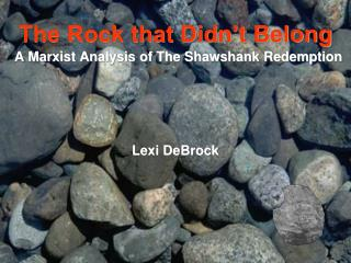 A Marxist Analysis of The Shawshank Redemption