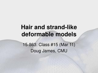 Hair and strand-like  deformable models