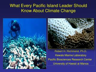 What Every Pacific Island Leader Should Know About Climate Change
