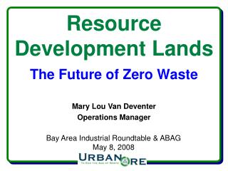 Resource  Development Lands