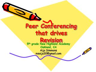 Peer Conferencing that drives Revision