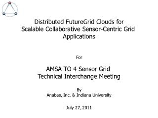 Distributed FutureGrid Clouds for Scalable Collaborative Sensor-Centric Grid  Applications For
