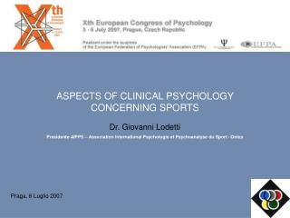 ASPECTS OF CLINICAL PSYCHOLOGY  CONCERNING SPORTS