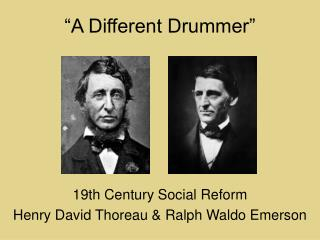 """A Different Drummer"""