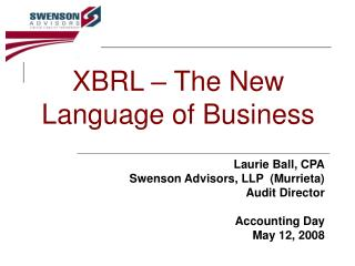 XBRL – The New Language of Business
