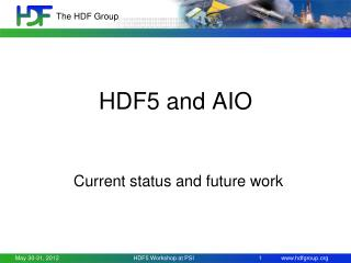 HDF5 and AIO