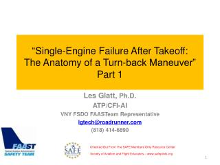 """Single-Engine Failure After Takeoff: The Anatomy of a Turn-back Maneuver"" Part 1"