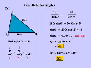 Sine Rule for Angles
