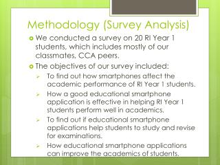 Methodology (Survey Analysis)