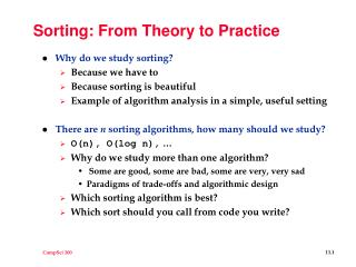 Sorting: From Theory to Practice