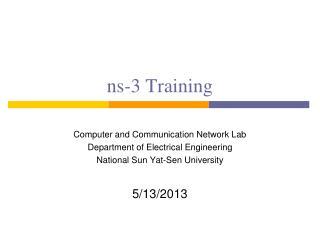 ns-3 Training