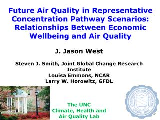 Future Air Quality in Representative Concentration Pathway Scenarios: