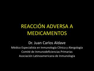 REACCIÓN ADVERSA A MEDICAMENTOS