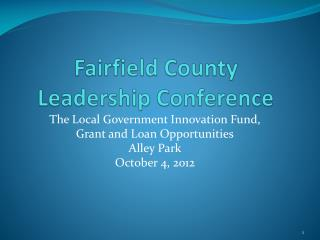 Fairfield County  Leadership Conference