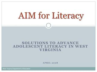 AIM for Literacy