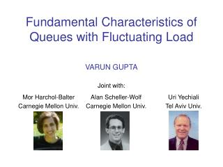 Fundamental Characteristics of Queues with Fluctuating Load
