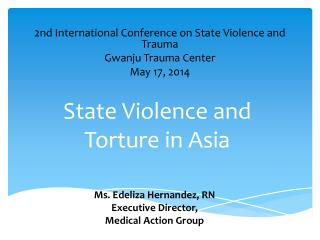 State  V iolence and Torture in Asia