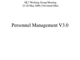 Personnel Management V3.0