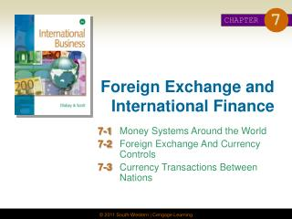 Foreign Exchange and International Finance