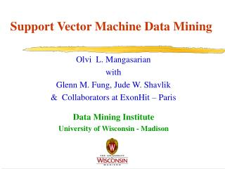 Support Vector Machine Data Mining