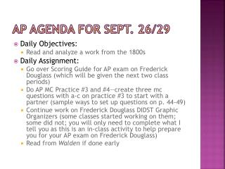 Ap  agenda for  sept . 26/29