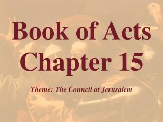 Book of Acts  Chapter 15