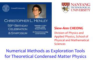 Numerical Methods as Exploration Tools for Theoretical Condensed Matter Physics
