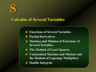 Functions of Several Variables Partial Derivatives