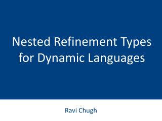 Nested Refinement Types for Dynamic Languages