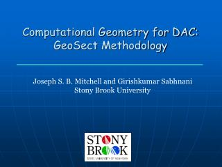 Computational Geometry for DAC: GeoSect  Methodology