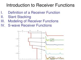 Introduction to Receiver Functions