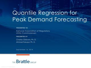 Quantile Regression for Peak Demand Forecasting