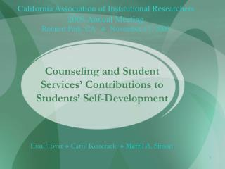 Counseling and Student Services  Contributions to Students  Self-Development