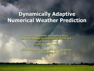 Dynamically Adaptive Numerical Weather Prediction