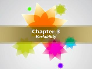 Chapter 3 Variability