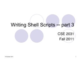 Writing Shell Scripts ─ part 3