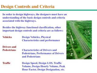Design Controls and Criteria