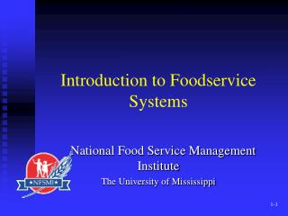 Introduction to Foodservice Systems