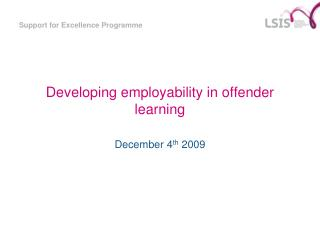 Developing employability in offender learning