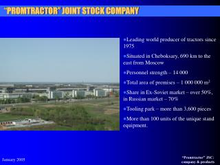 """"""" PROMTRACTOR"""" JOINT STOCK COMPANY"""