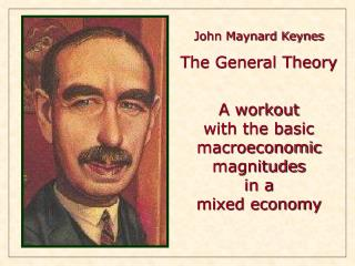 John Maynard Keynes The General Theory A workout  with the basic macroeconomic magnitudes in a