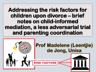 What about the children Parenting post separation and divorce