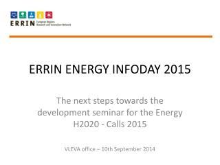 ERRIN ENERGY INFODAY 2015