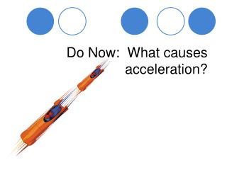 Do Now:  What causes acceleration?